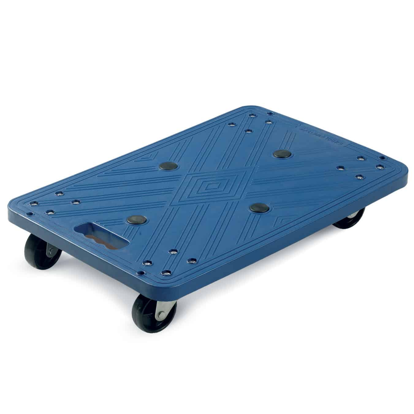 Lightweight Blue Plastic Dolly 100kg Capacity