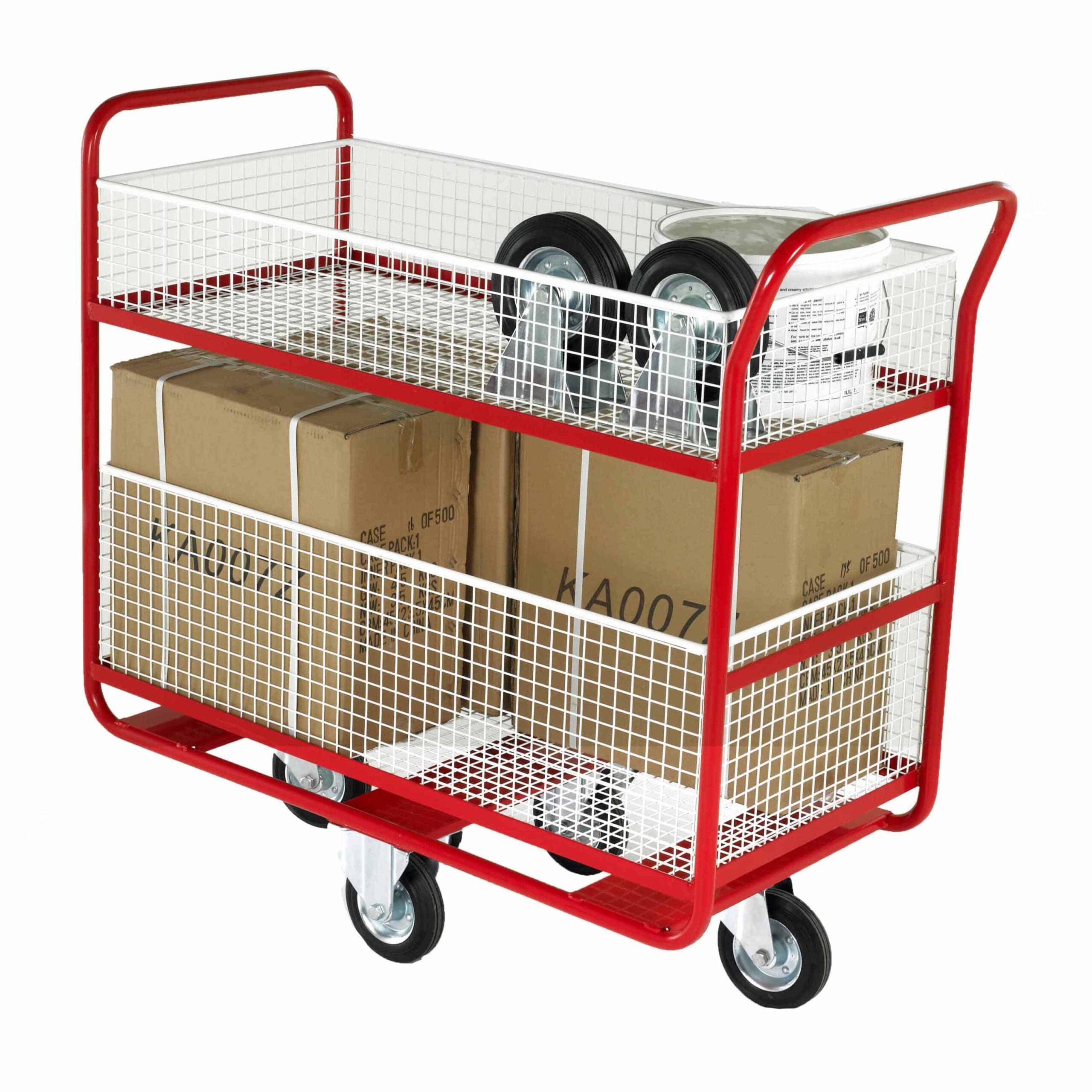 Large Removable Basket Distribution Trolley