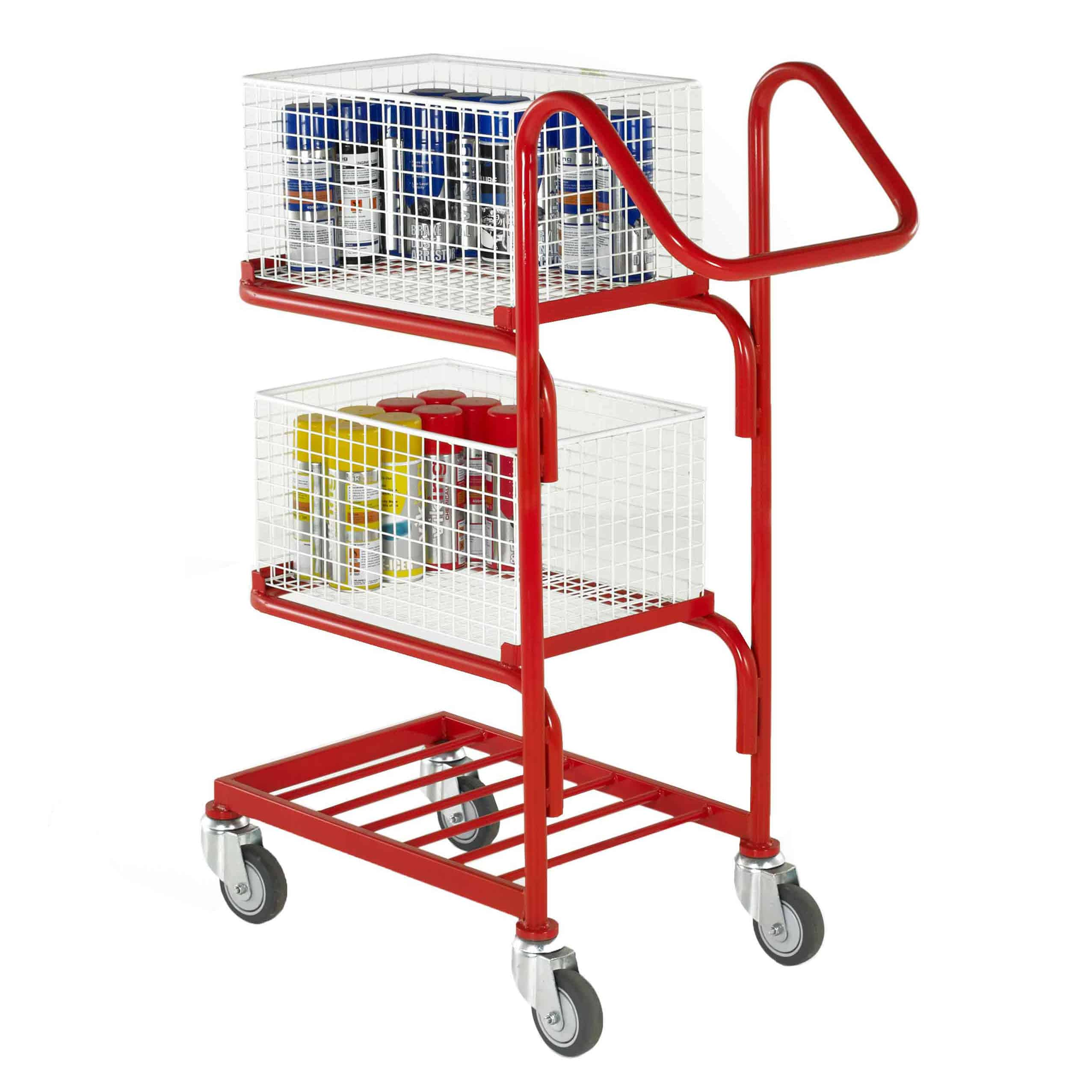 Three Tier Removable Basket Tray Trolleys