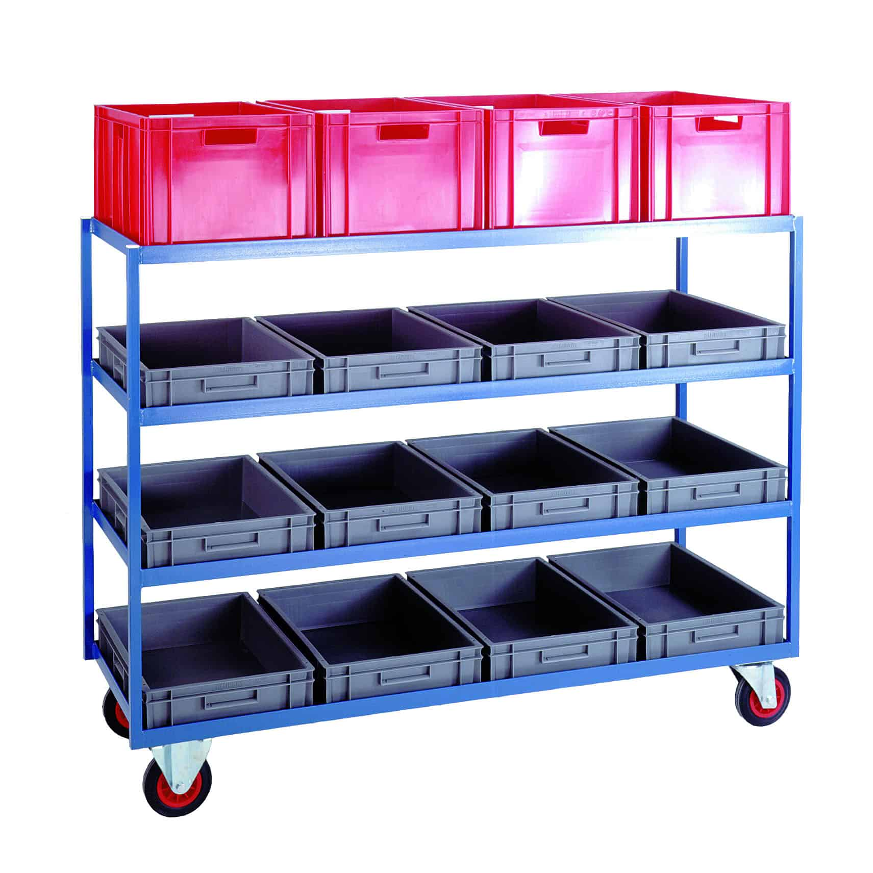 Order Picking Euro Container Shelf Trolleys