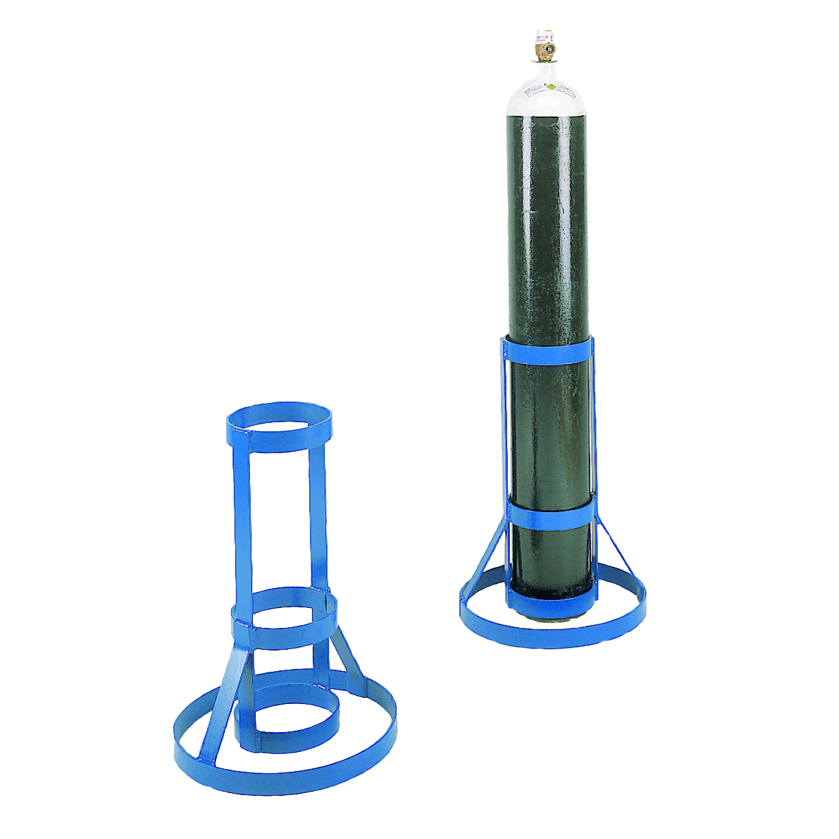 Heavy Duty Cylindrical Steel Cylinder Stand
