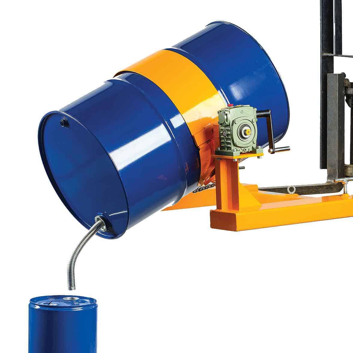 Hand Crank Operated Steel Drum Rotators