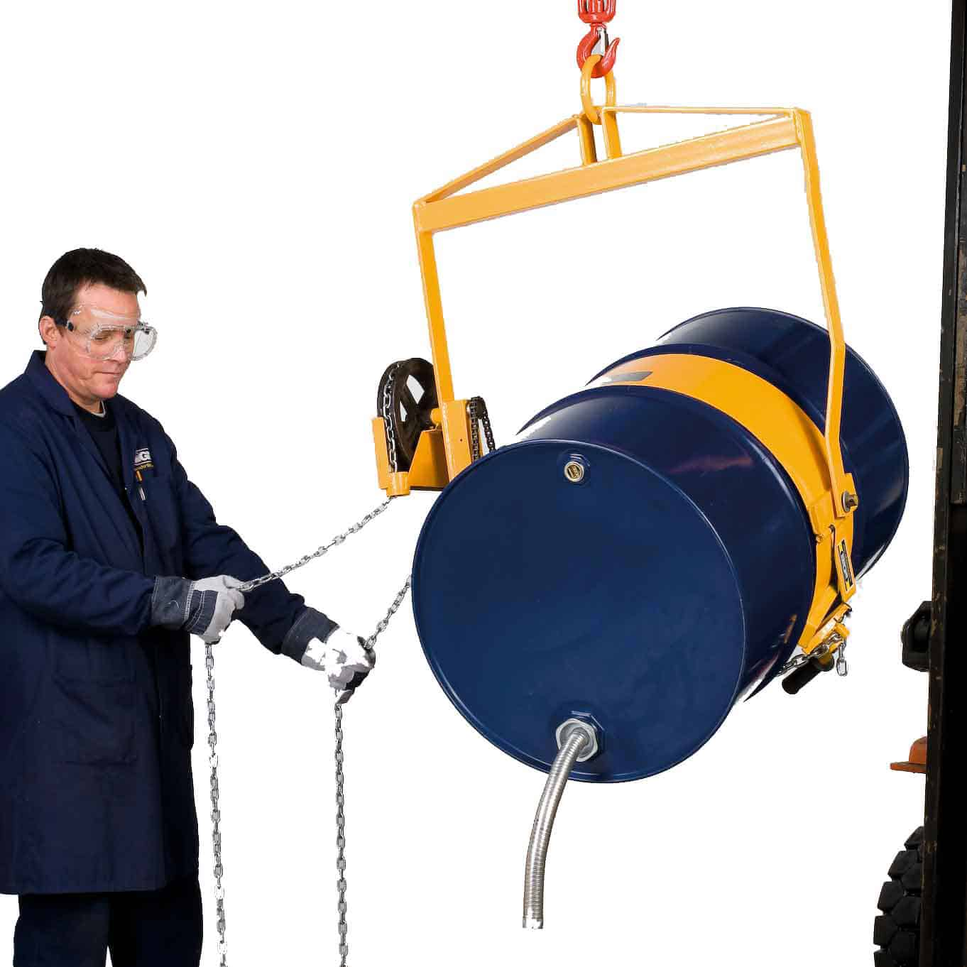Chain Pulley Operated Drum Lifter