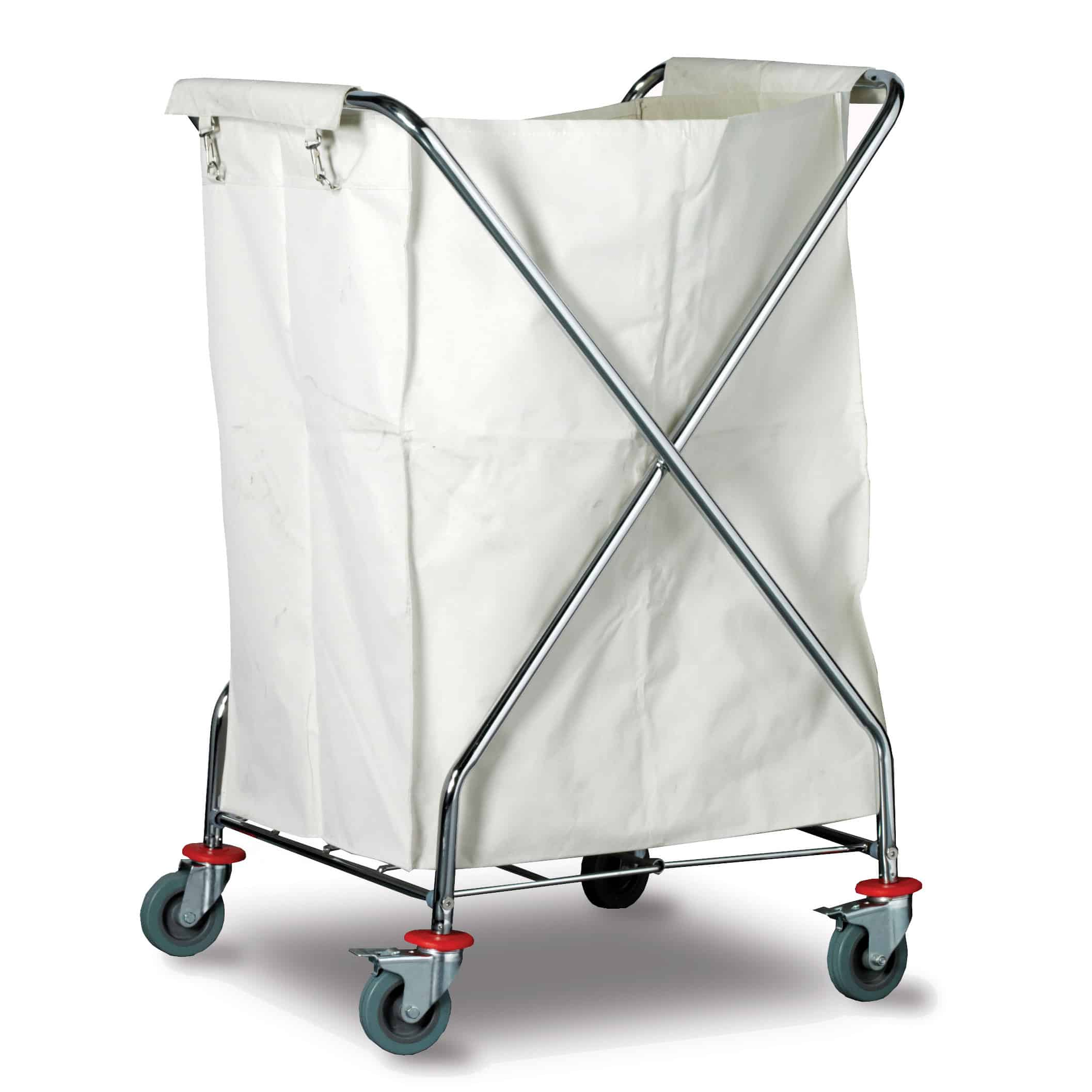 Chrome Plated Steel Folding X Laundry Trolley
