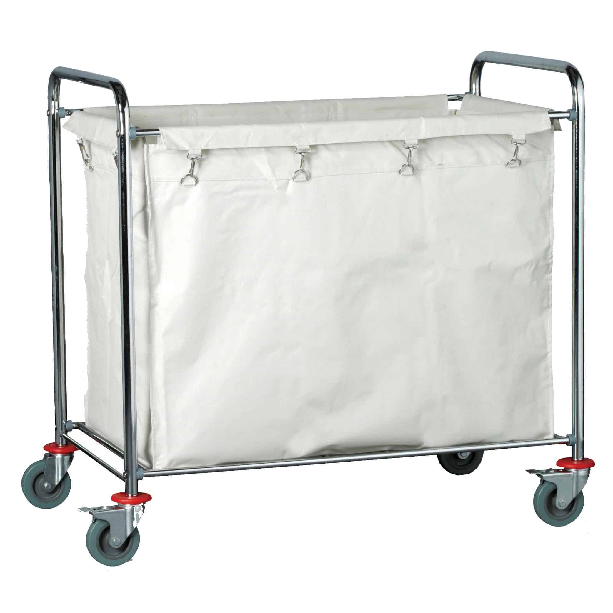 Chrome Plated Steel Quad Laundry Trolley