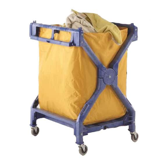 Strong Plastic Folding 70kg Laundry Trolley