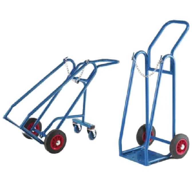 Barton Single Gas Cylinder Steel Trolleys