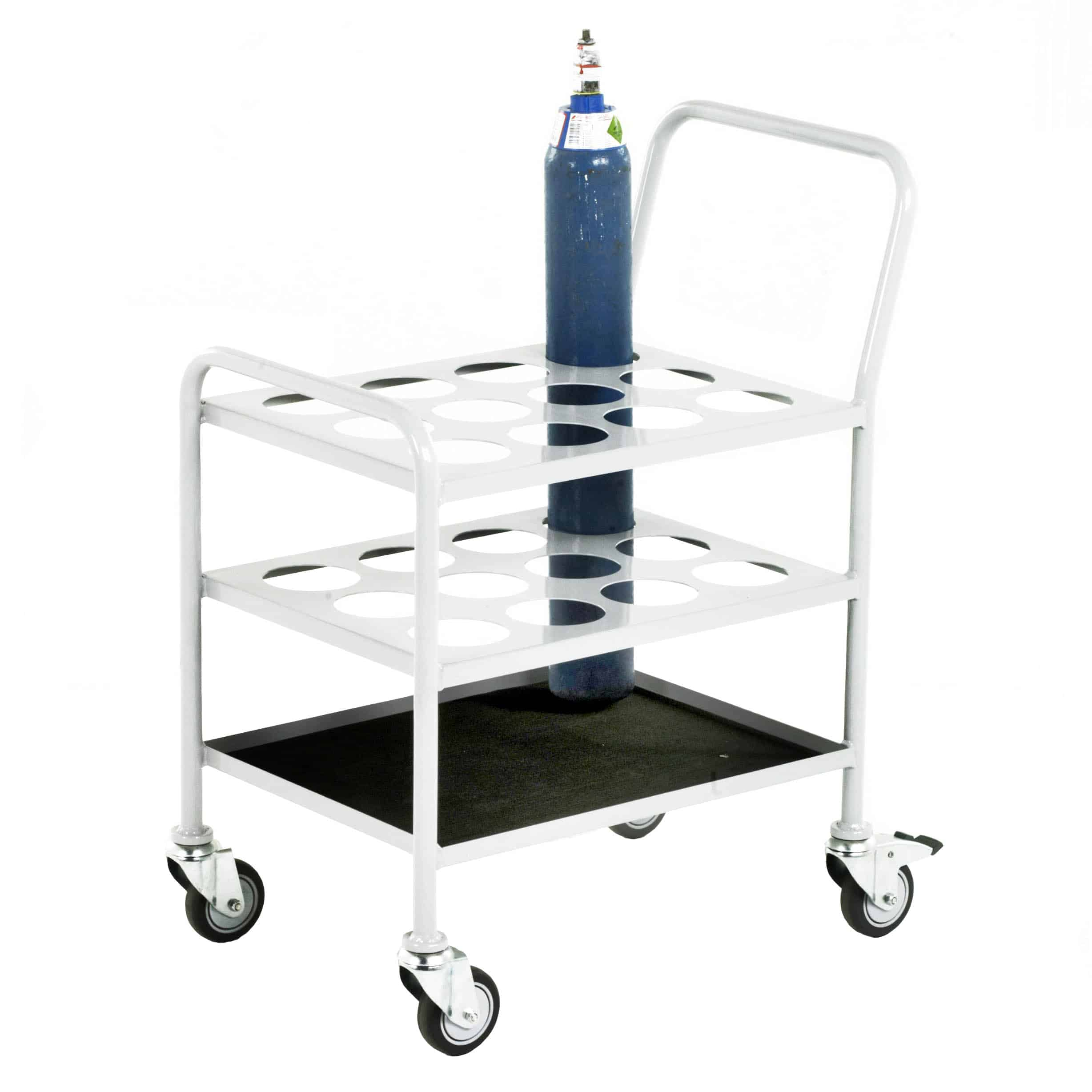 Small Oxygen Cylinder Steel Mobile Trolley