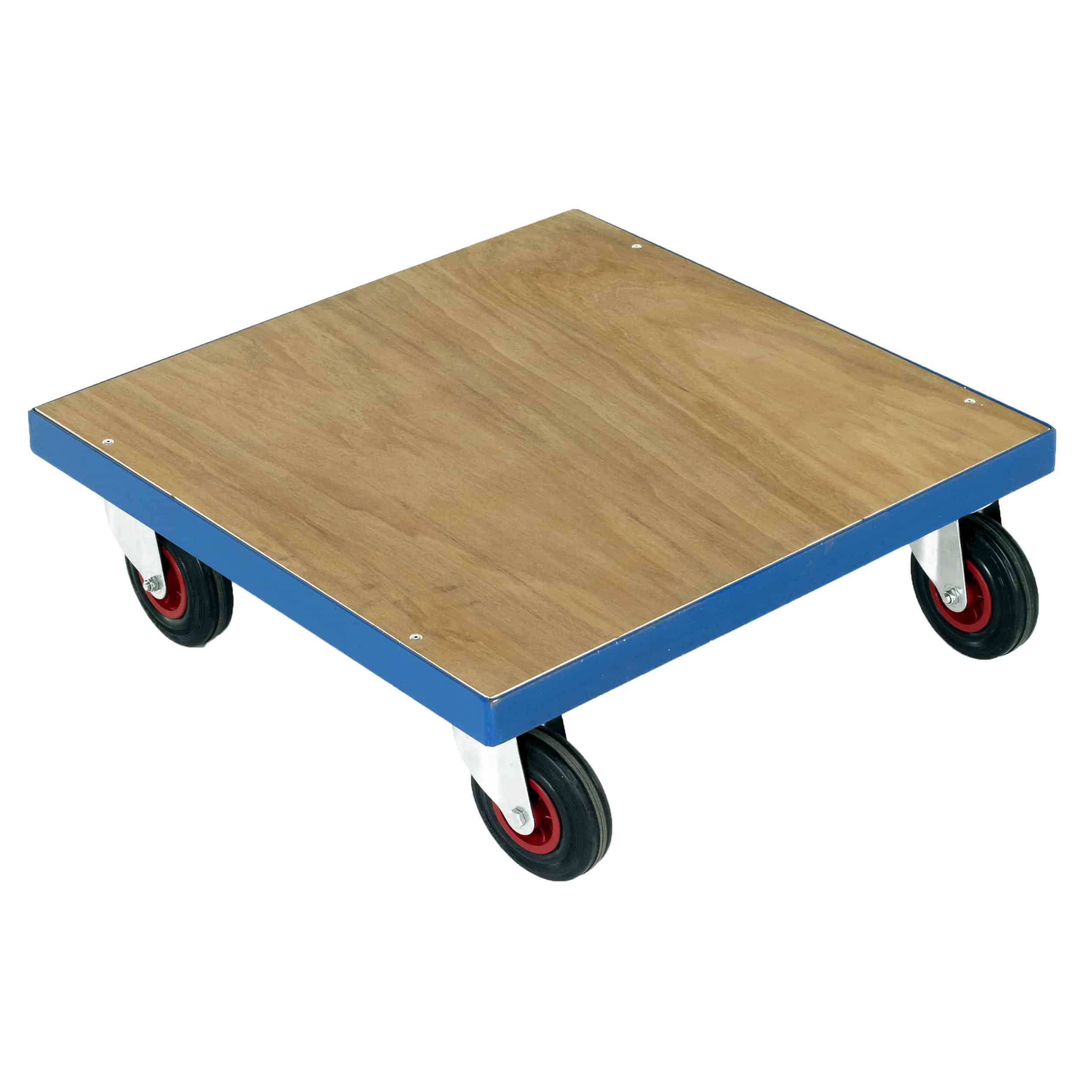 Timber Deck Steel Platform Dollies 300kg Capacity