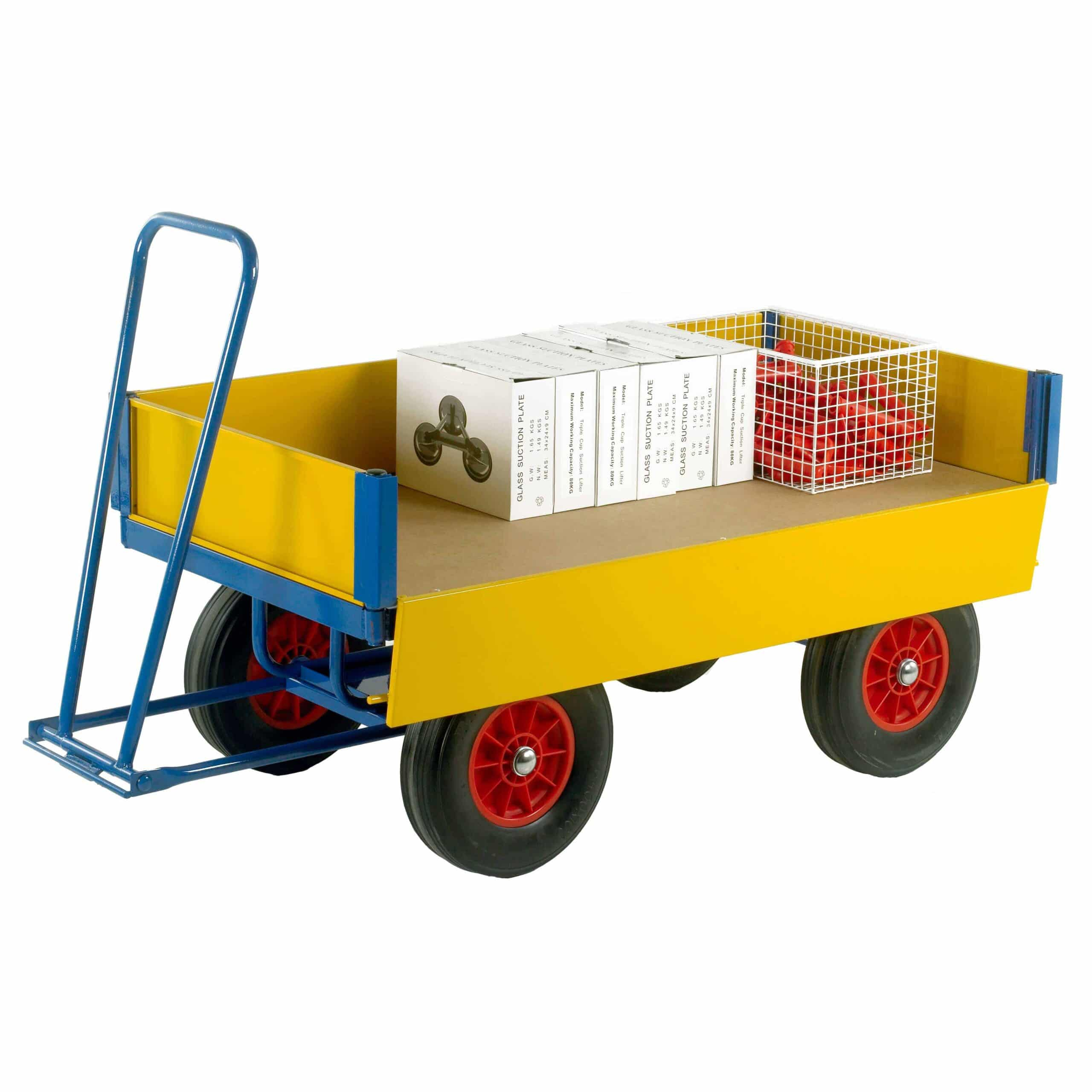 Turntable Platform Trailers with Drop Down Side Panels