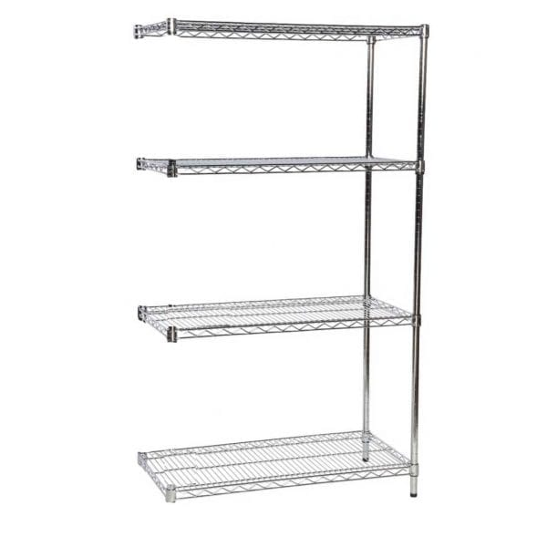 Eclipse Chrome Open Wire Shelving Extension Bay