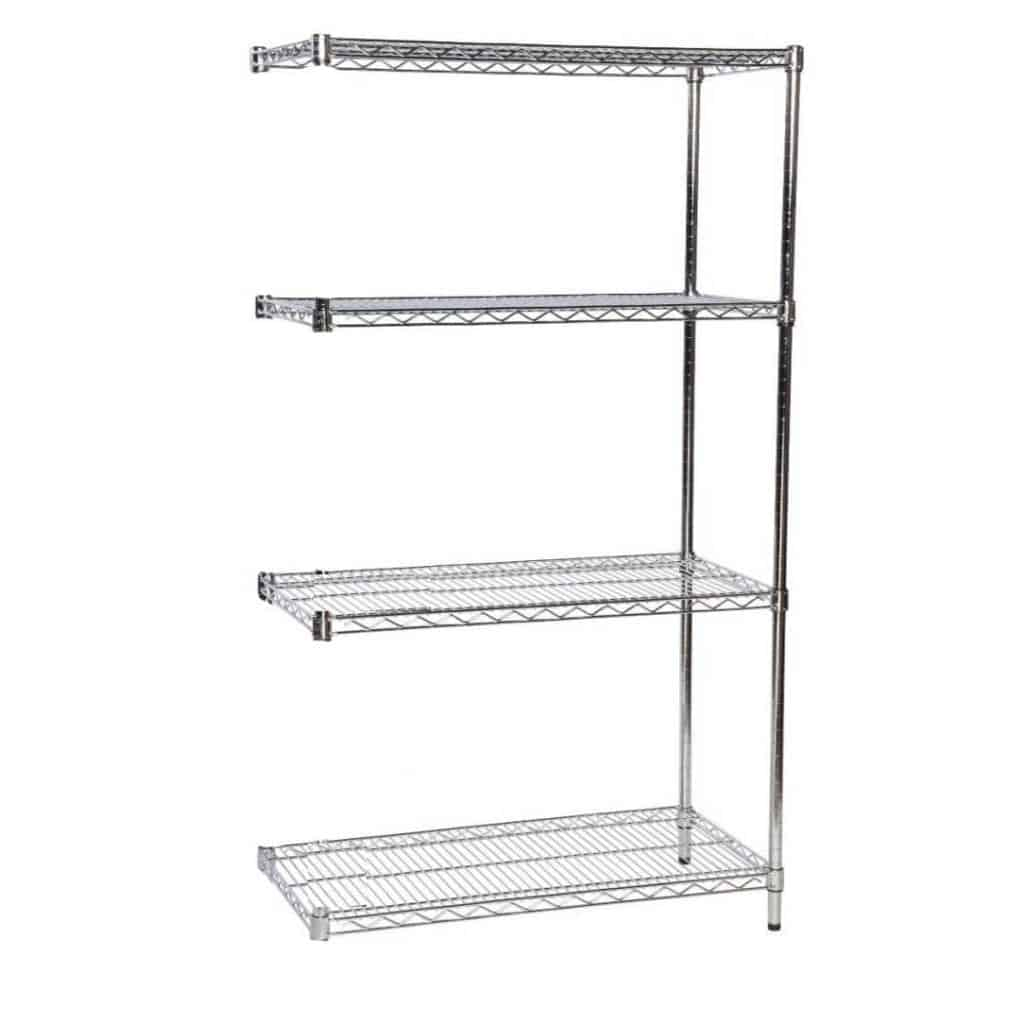 Eclipse Chrome Open Wire Shelving Extension Bay Storage