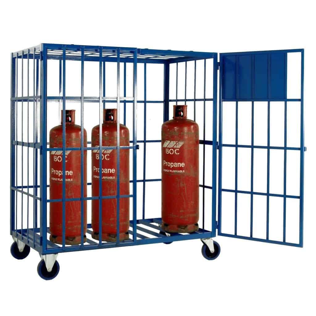 Mobile Propane Cylinder Storage Cage