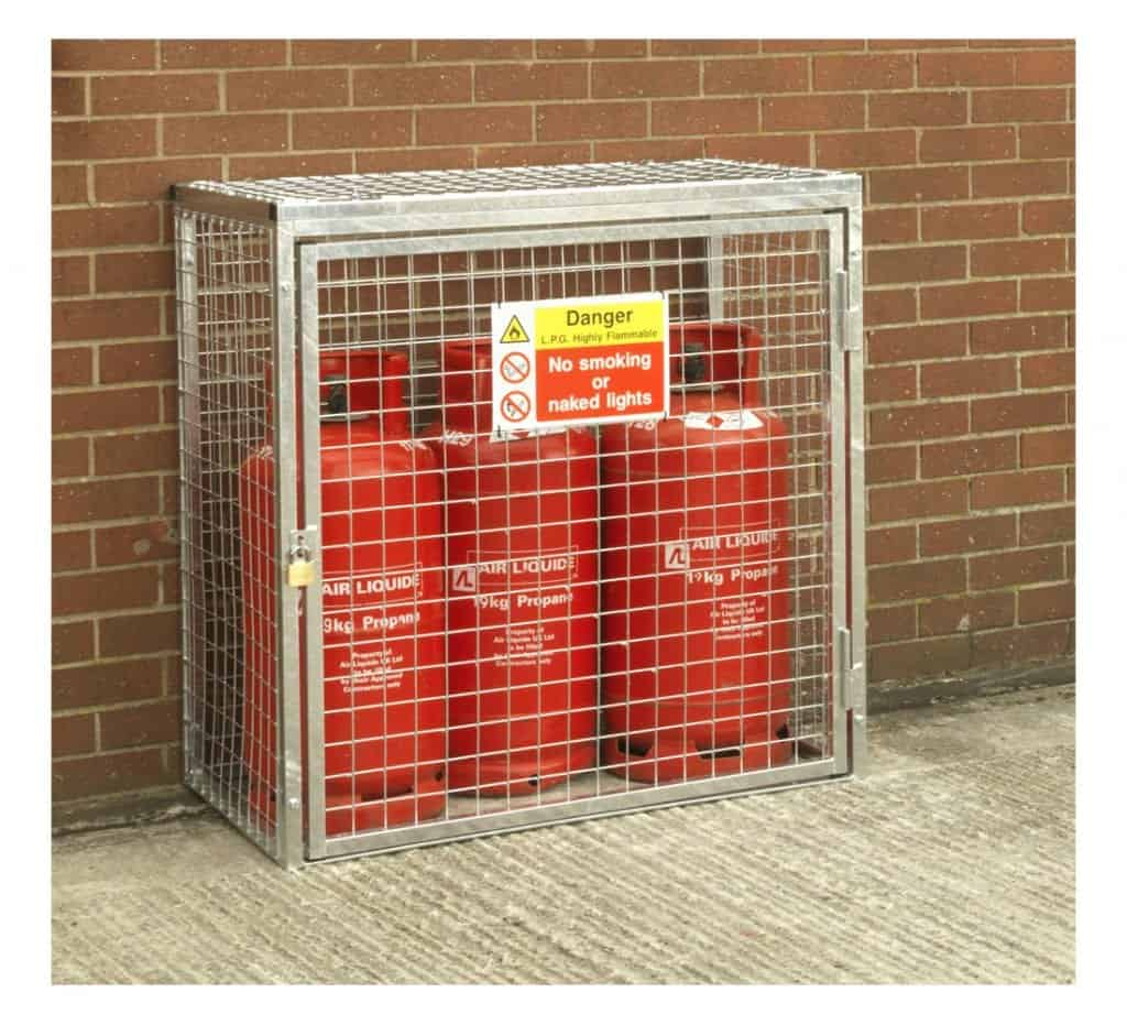 Gas Cylinder Cage H1000 X W1000 X D500mm Storage N Stuff