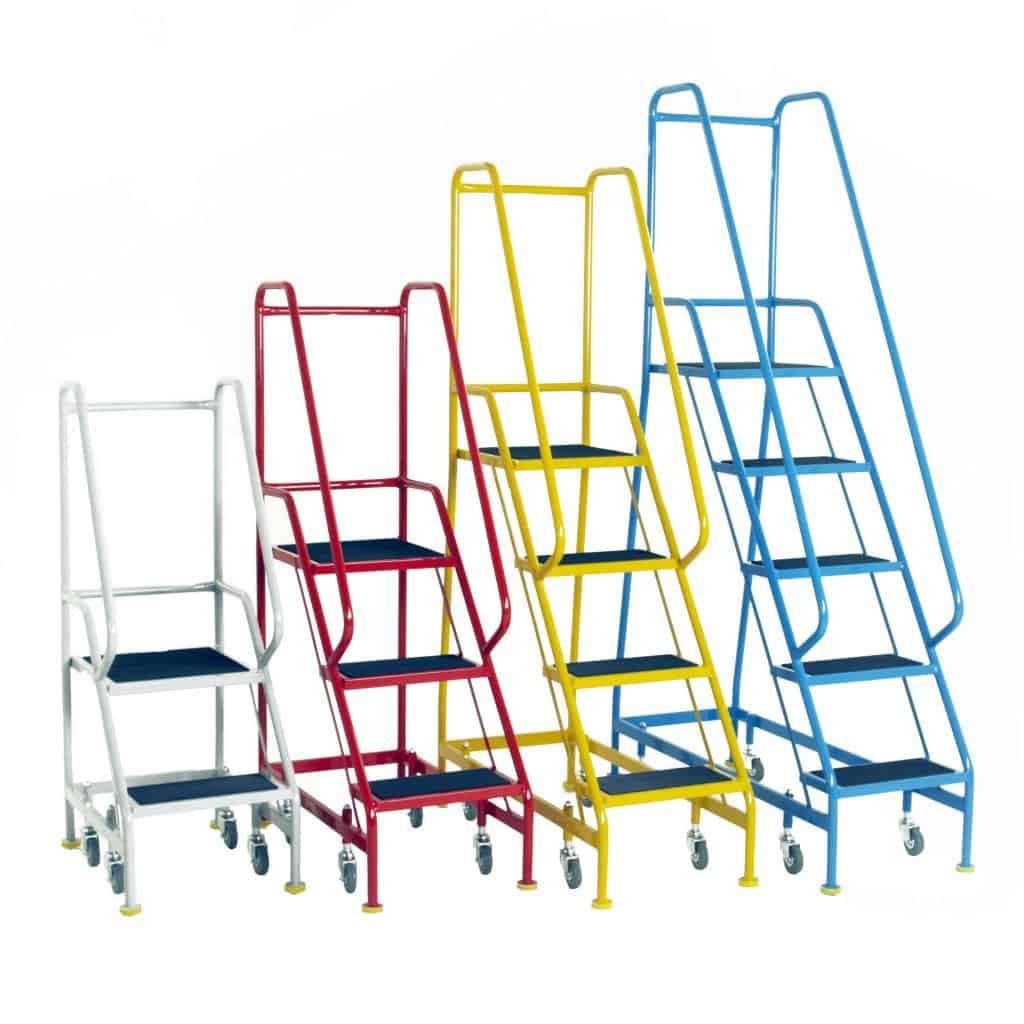 Narrow Aisle Spring Loaded Mobile Safety Steps