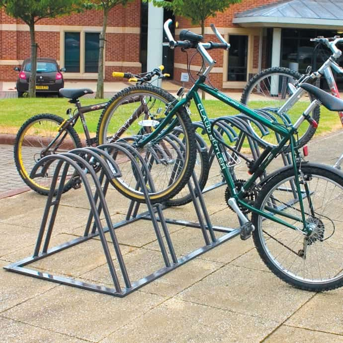 Stand Alone Twin Level Claw Bicycle Rack