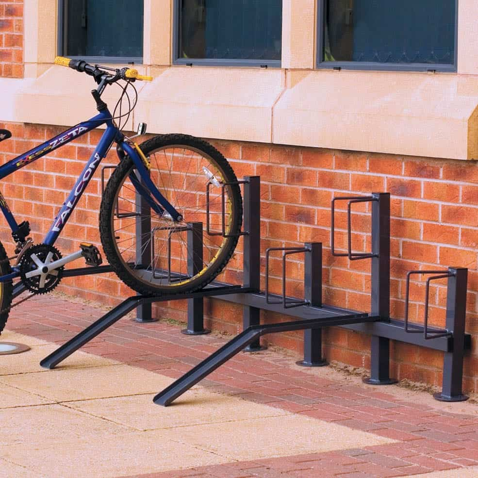 Single Sided Pillar Mounted Bike Racks
