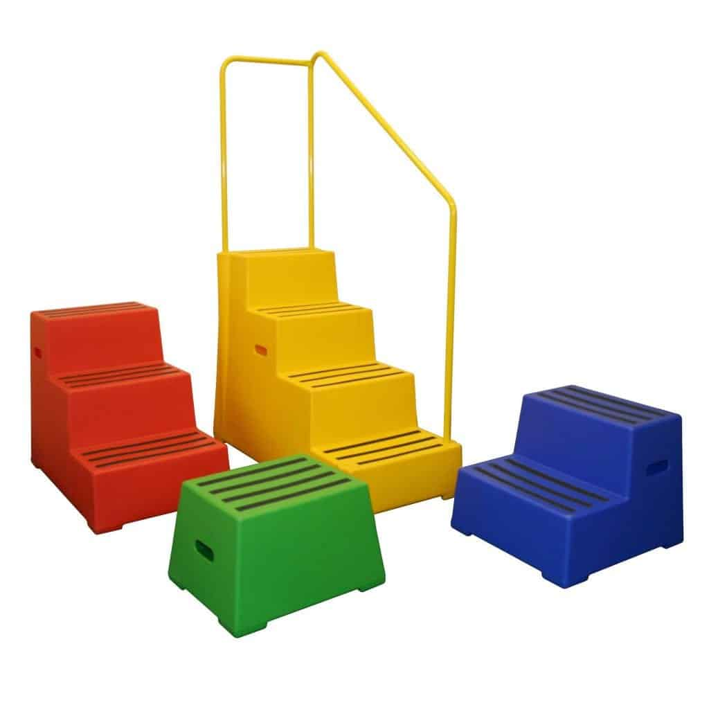 Heavy Duty Moulded Plastic Safety Steps