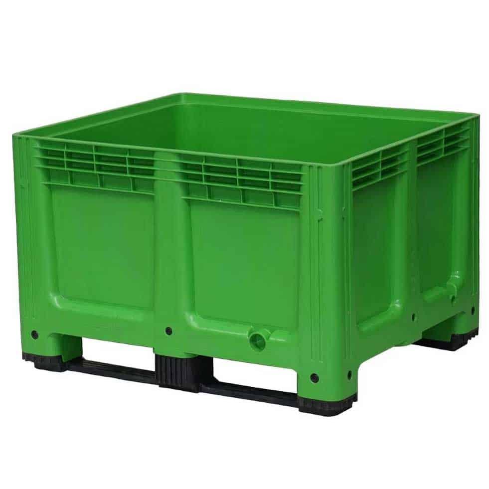 Solid Green Plastic Pallet Box