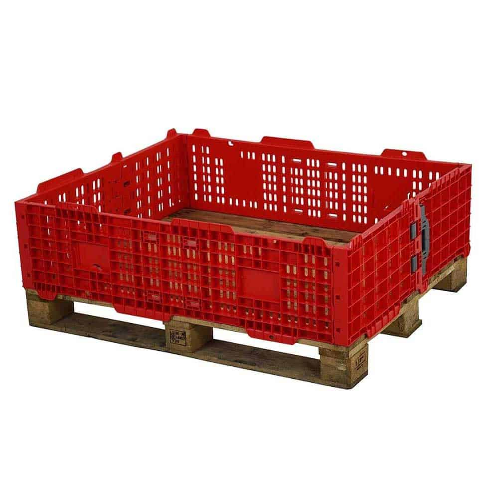 Red Plastic Pallet Collars