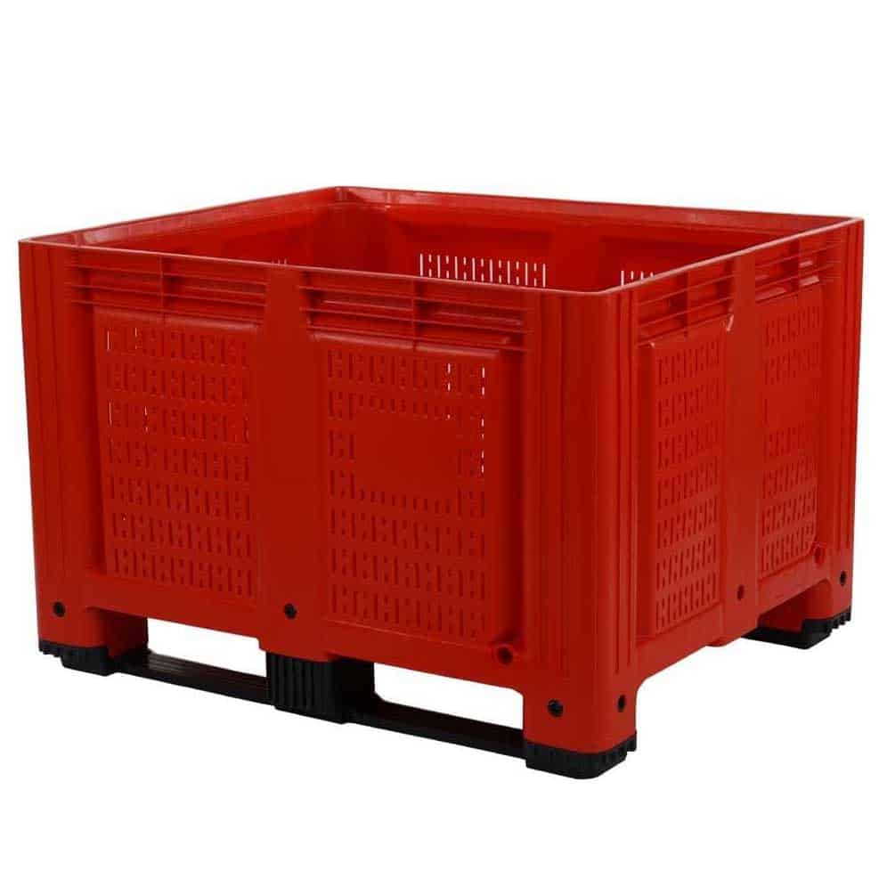 Economy Vented Sides Plastic Pallet Boxes