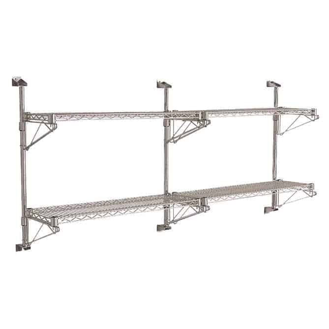 Eclipse Chrome Cantilever Wall Shelving