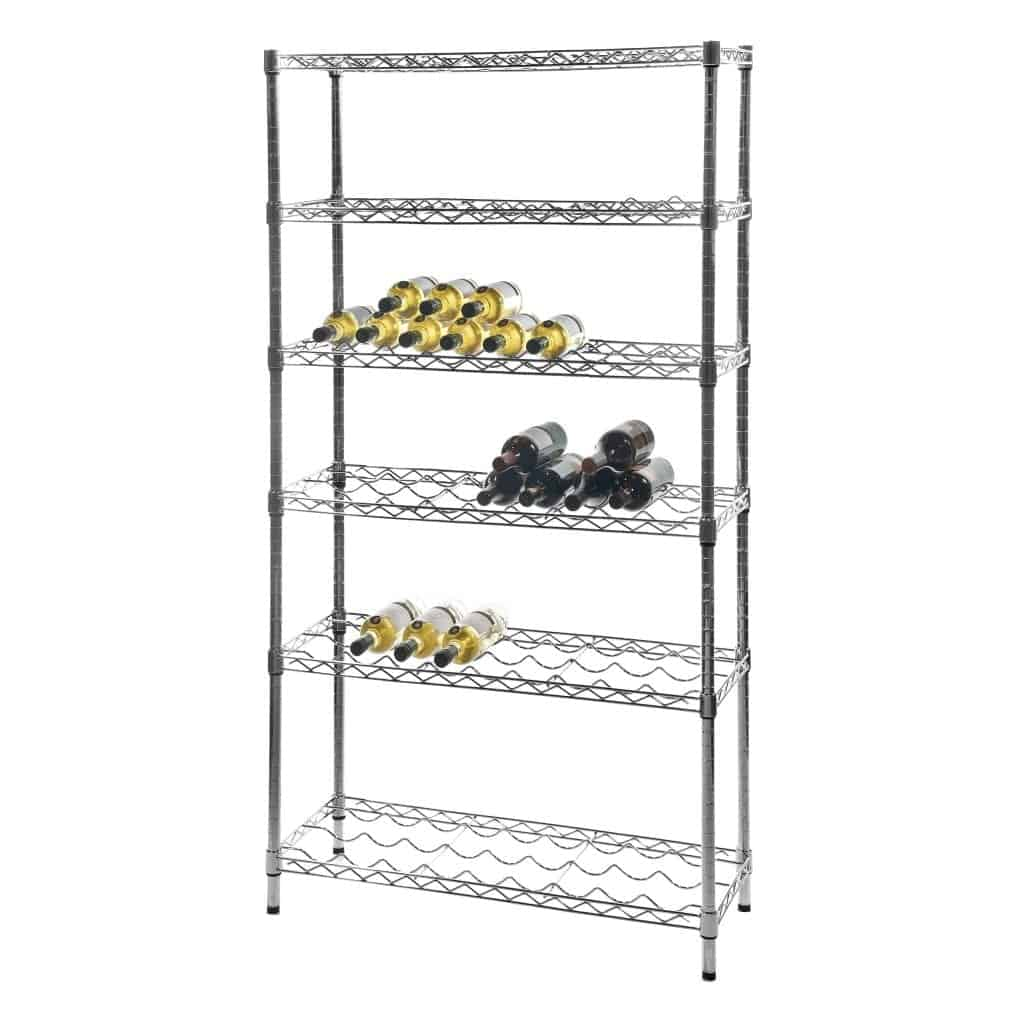 Eclipse Chrome Wire Wine Racks