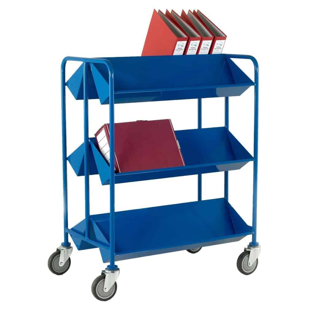 Double Sided Steel Book Trolleys