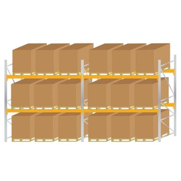 Warehouse Pallet Racking 1100 Kit 4