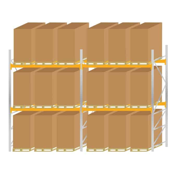 Warehouse Pallet Racking 1100 Kit 5