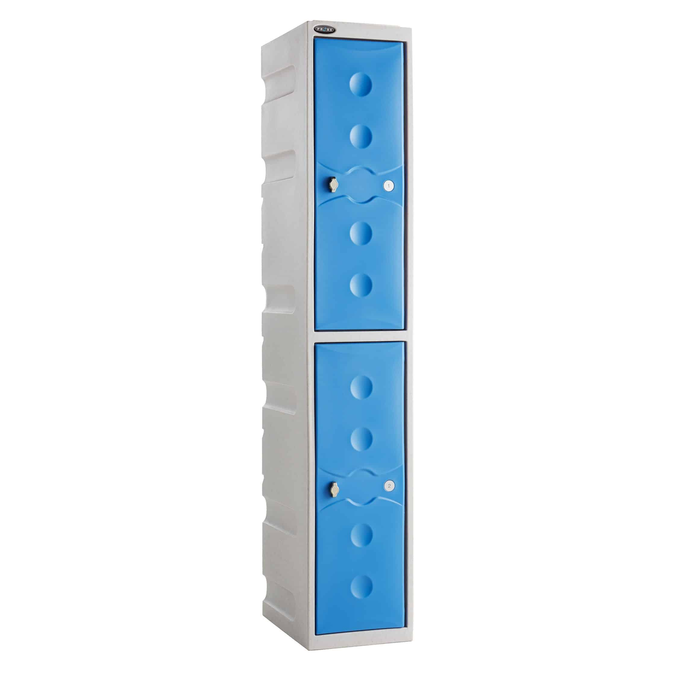 Plastic Waterproof 2 Door Lockers