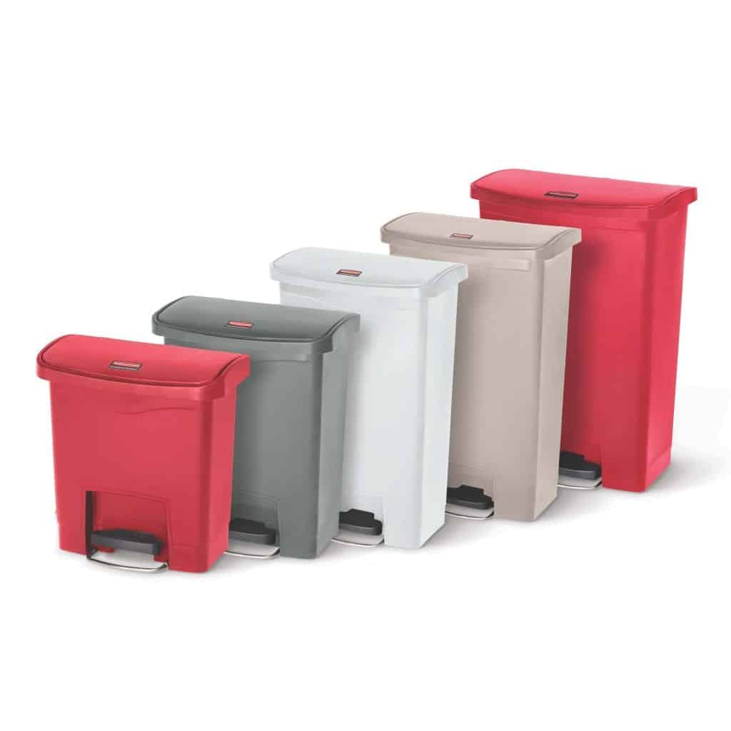 Slim Jim Step-On Front Step Containers
