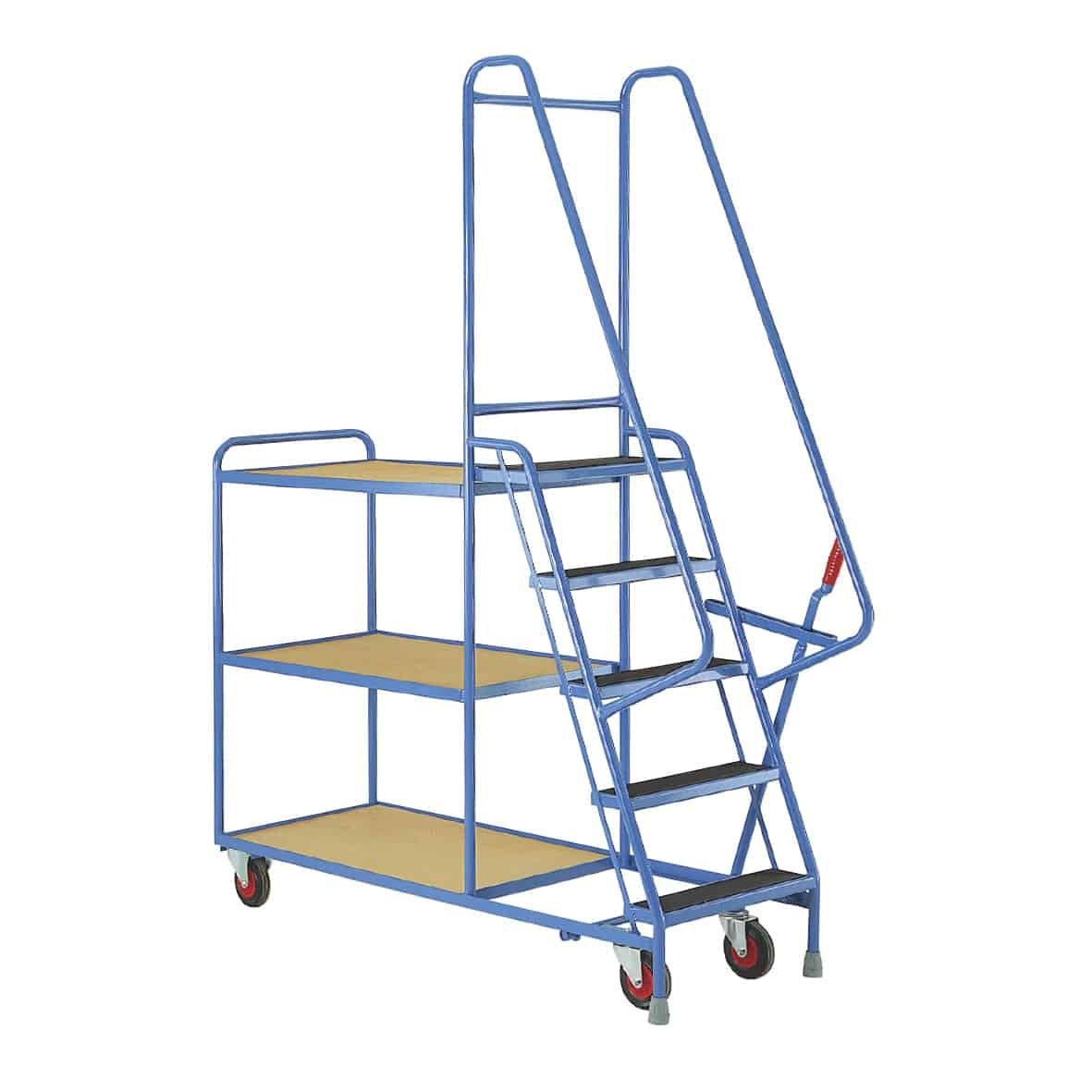 Plywood Shelves 5 Step Tray Trolleys