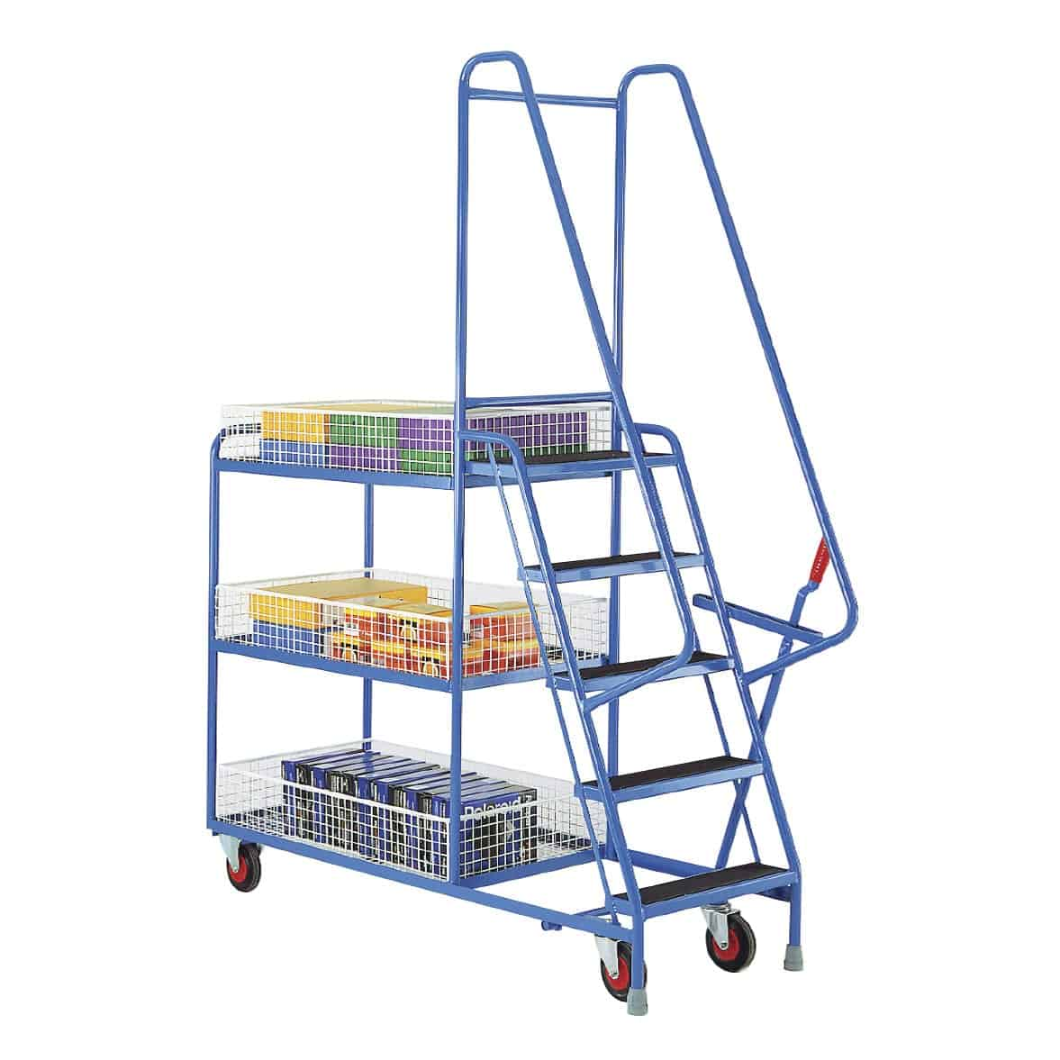 Removable Basket 5 Step Tray Trolleys
