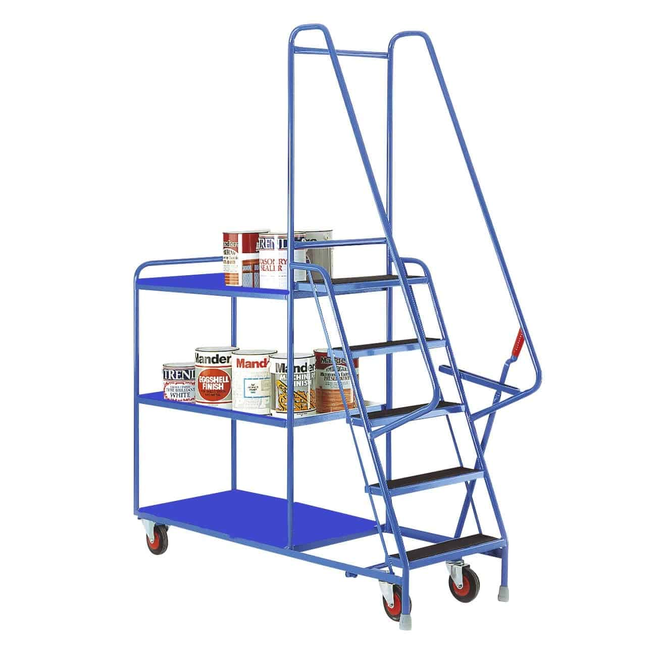 Fixed Tray 5 Step Tray Trolleys