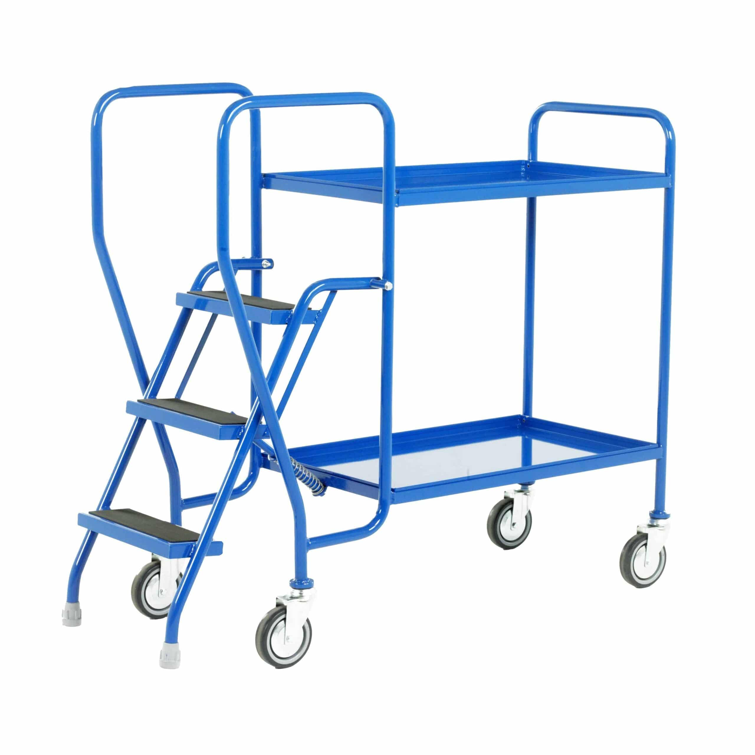 Fixed Tray 3 Step Tray Trolleys