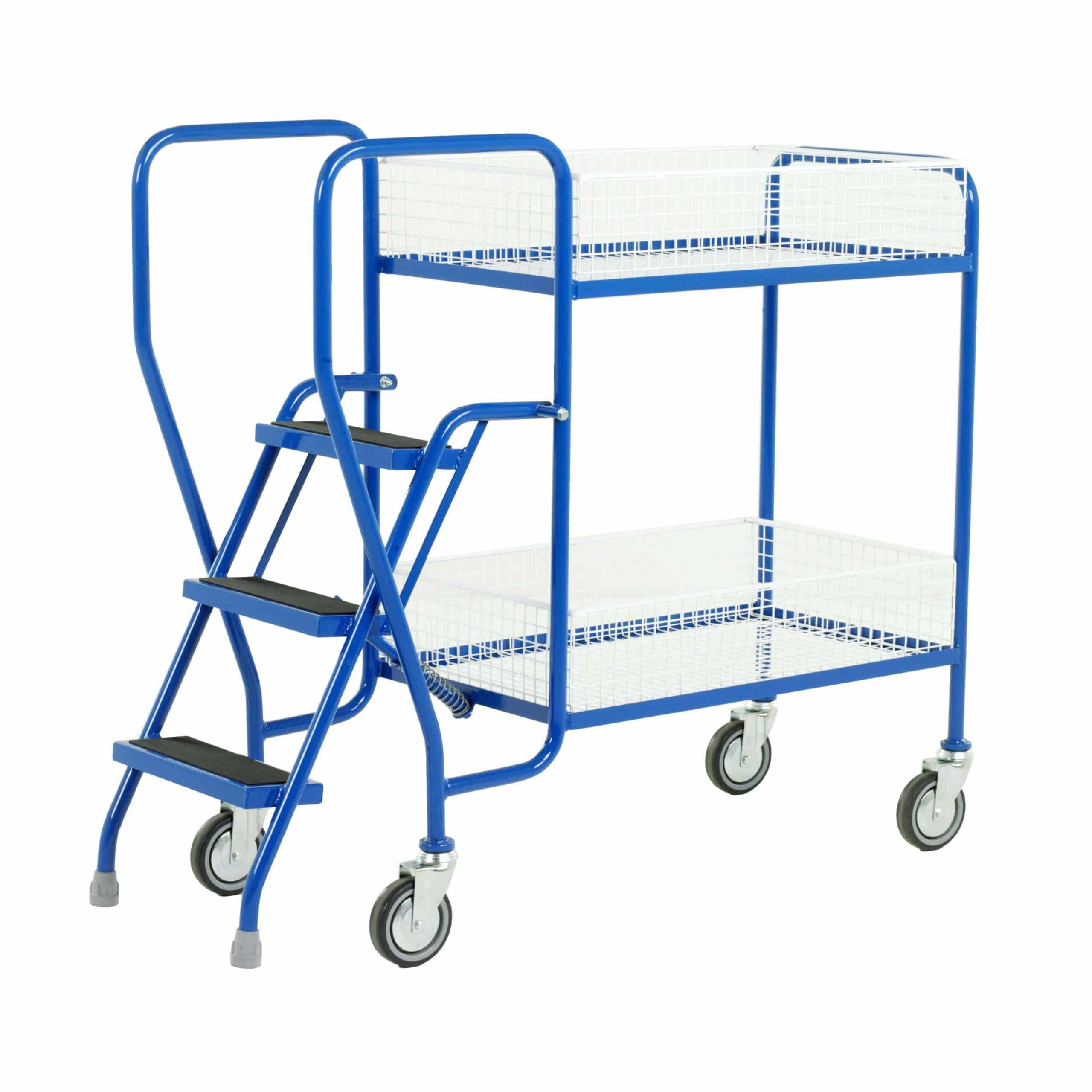Removable Basket 3 Step Tray Trolleys