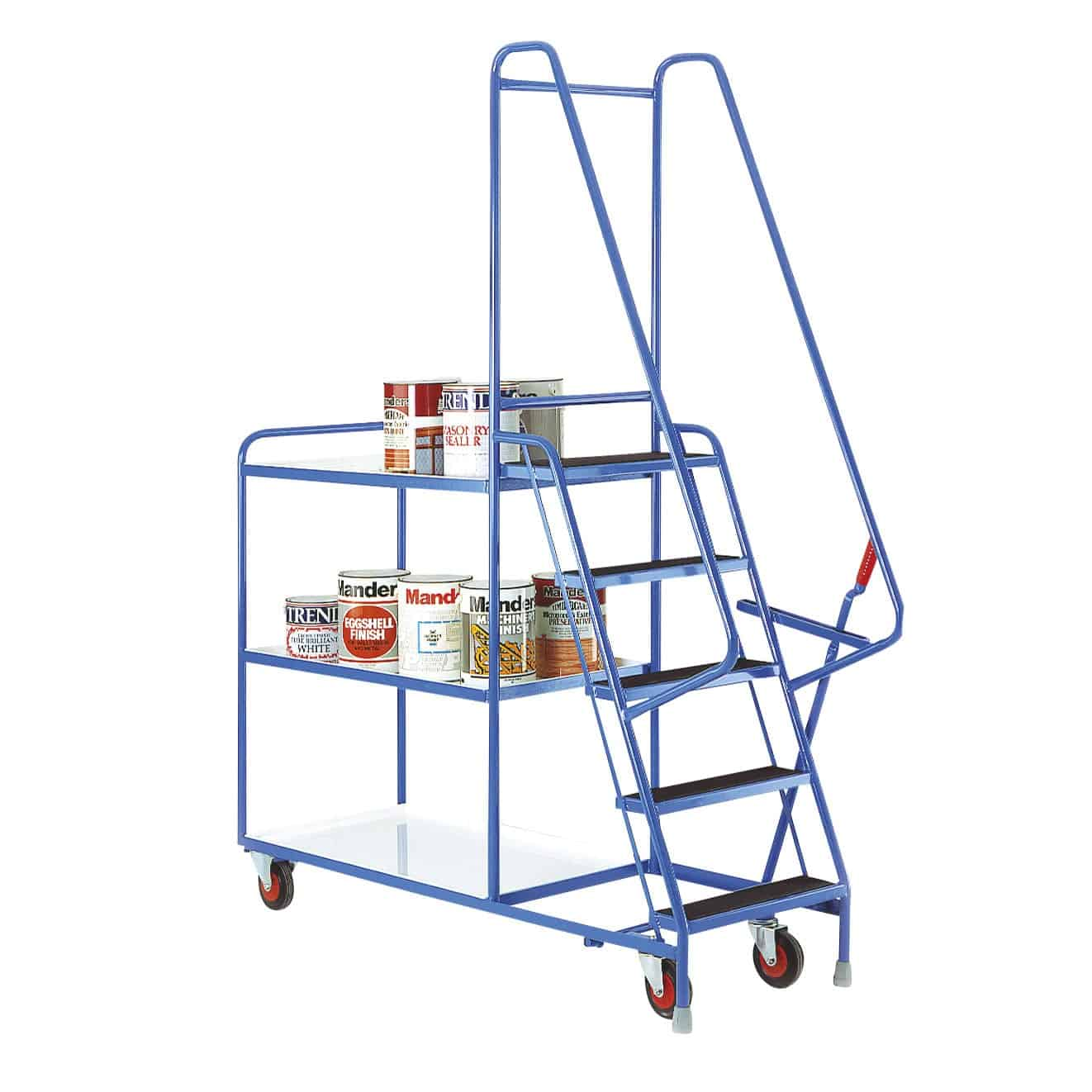Reversible Tray 5 Step Tray Trolleys