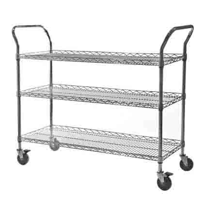 Chrome Wire Lipped Edge Trolleys