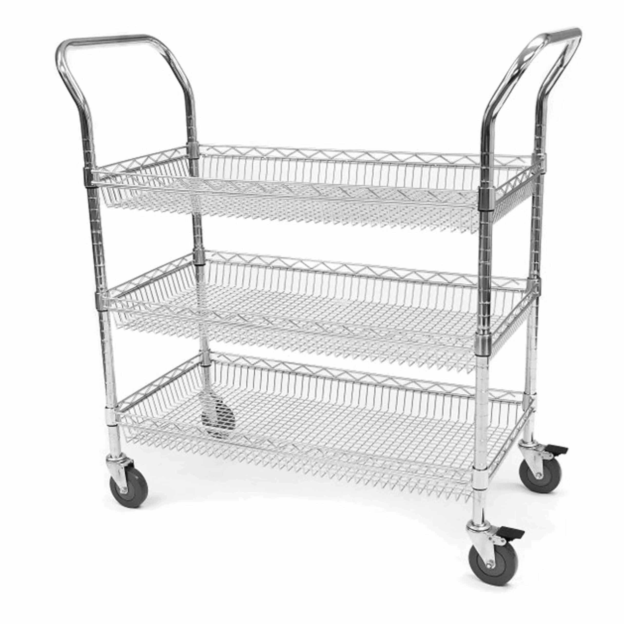 Chrome Wire Basket Trolleys
