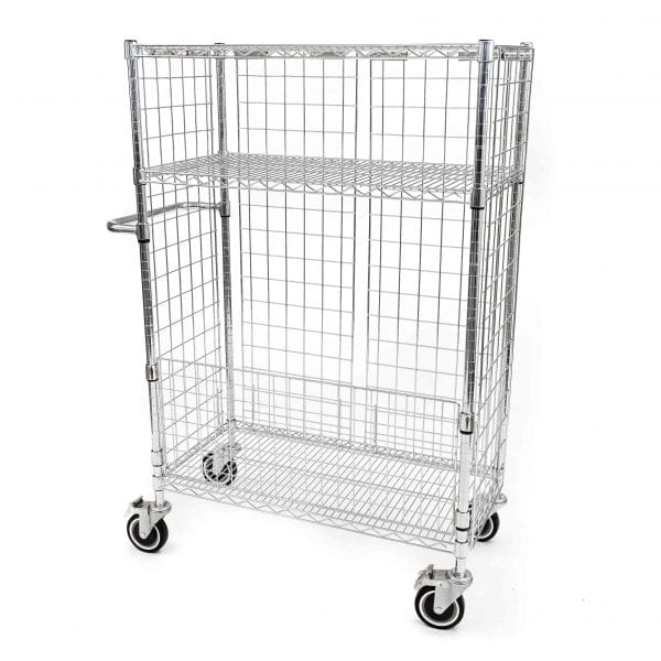 Chrome Wire Laundry Carts