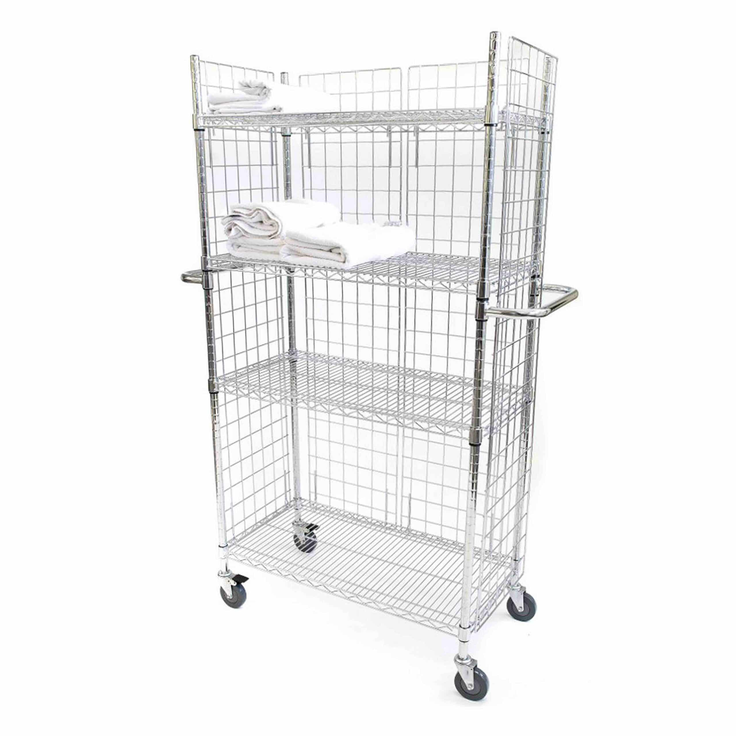 Chrome Wire Linen Carts