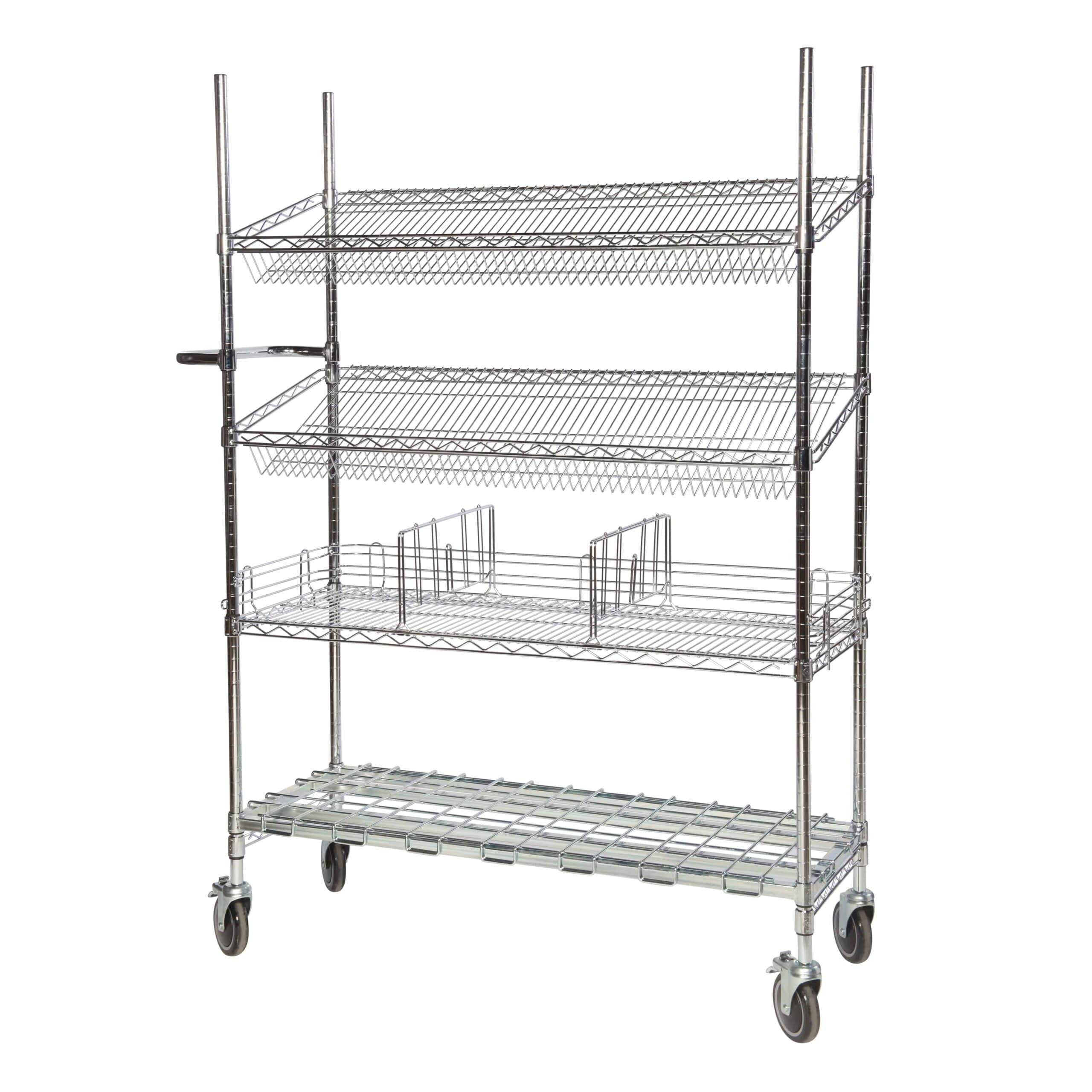 Chrome Wire Trolleys Type 4