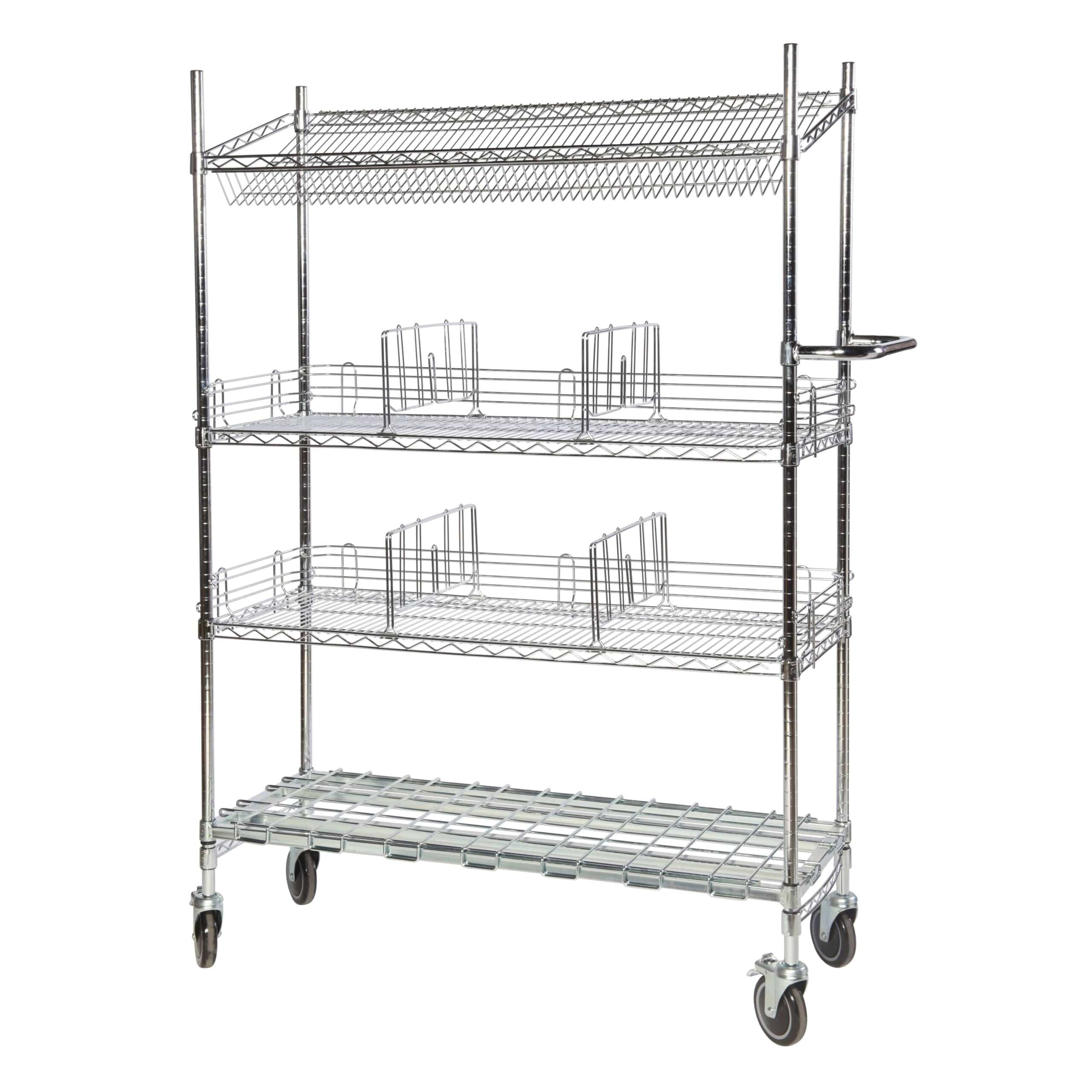 Chrome Wire Trolleys Type 3