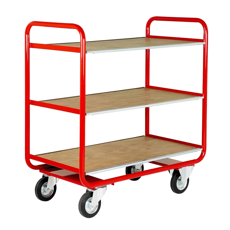 Fixed Timber 3 Deck Shelf Trucks