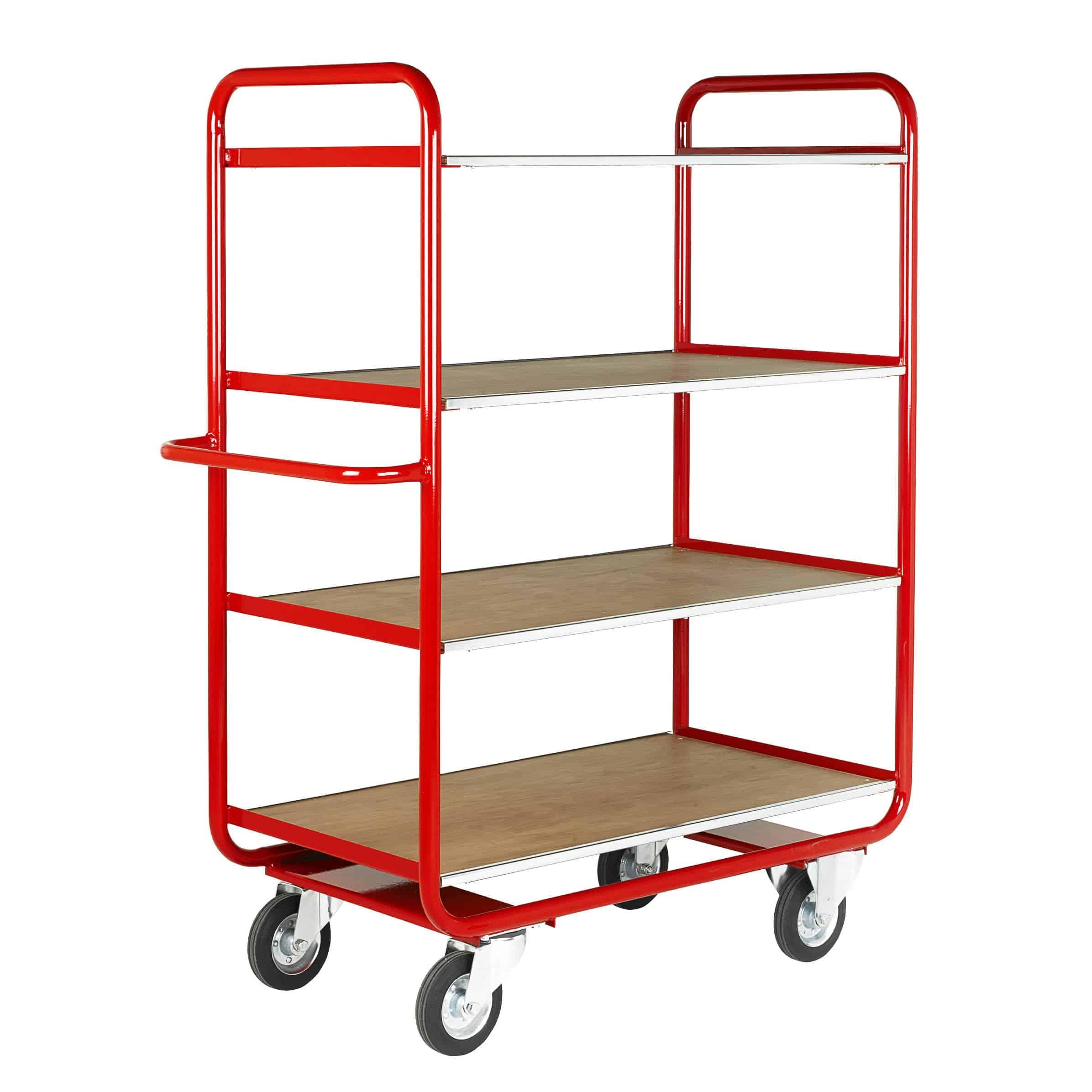 Fixed Timber 4 Deck Shelf Trucks