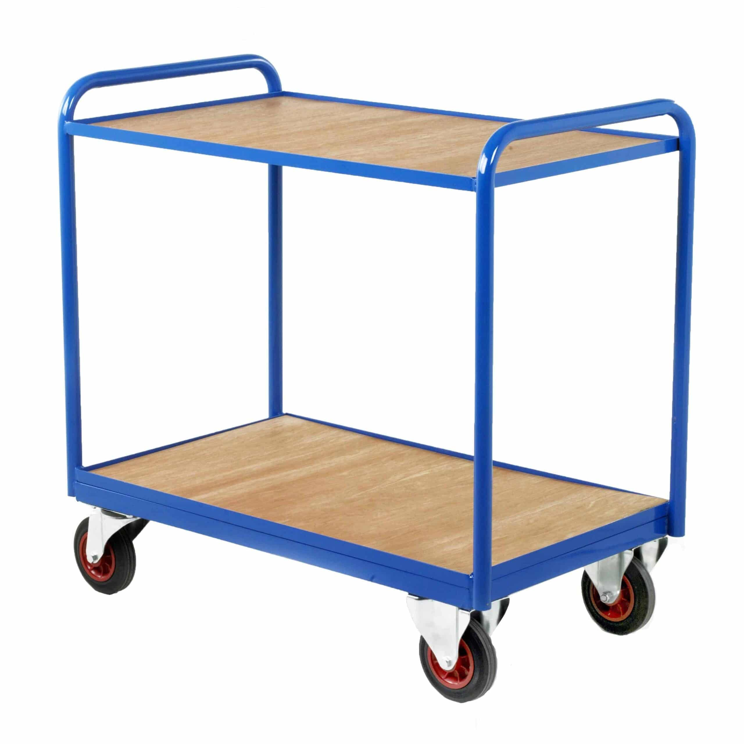 Timber Panel Industrial Tray Trolleys