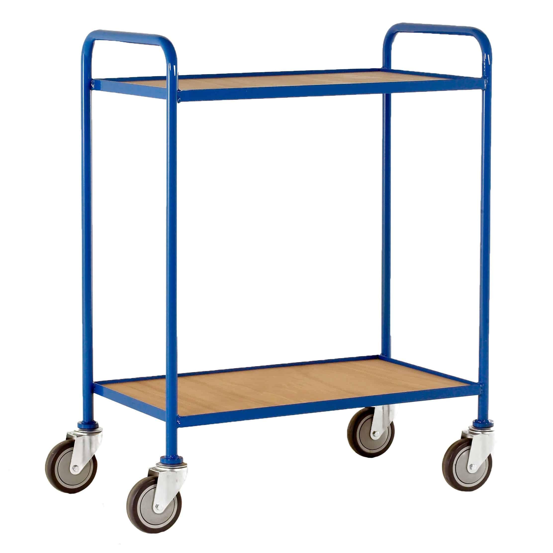 Fixed Plywood Shelf Tray Trolleys