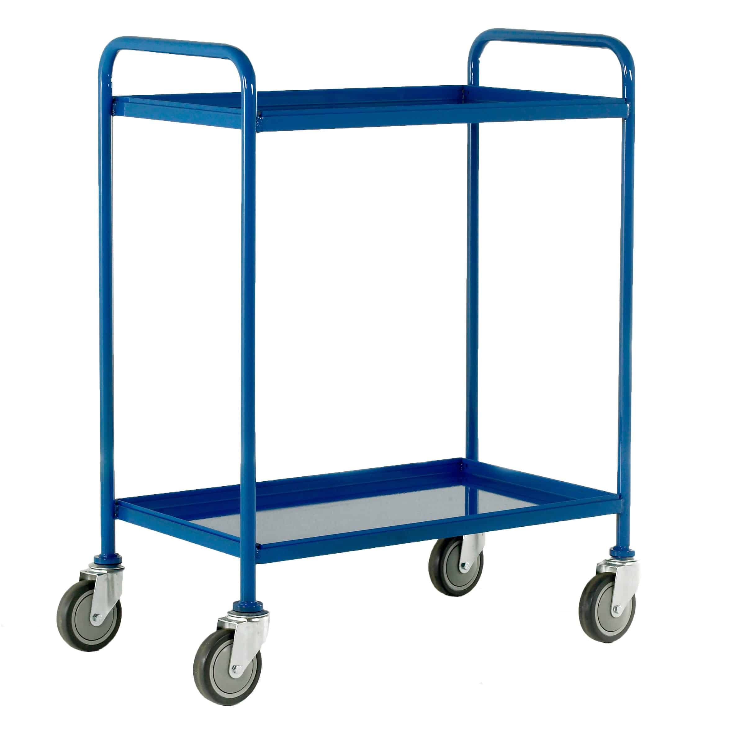 Removable 2 Tray Steel Tray Trolleys