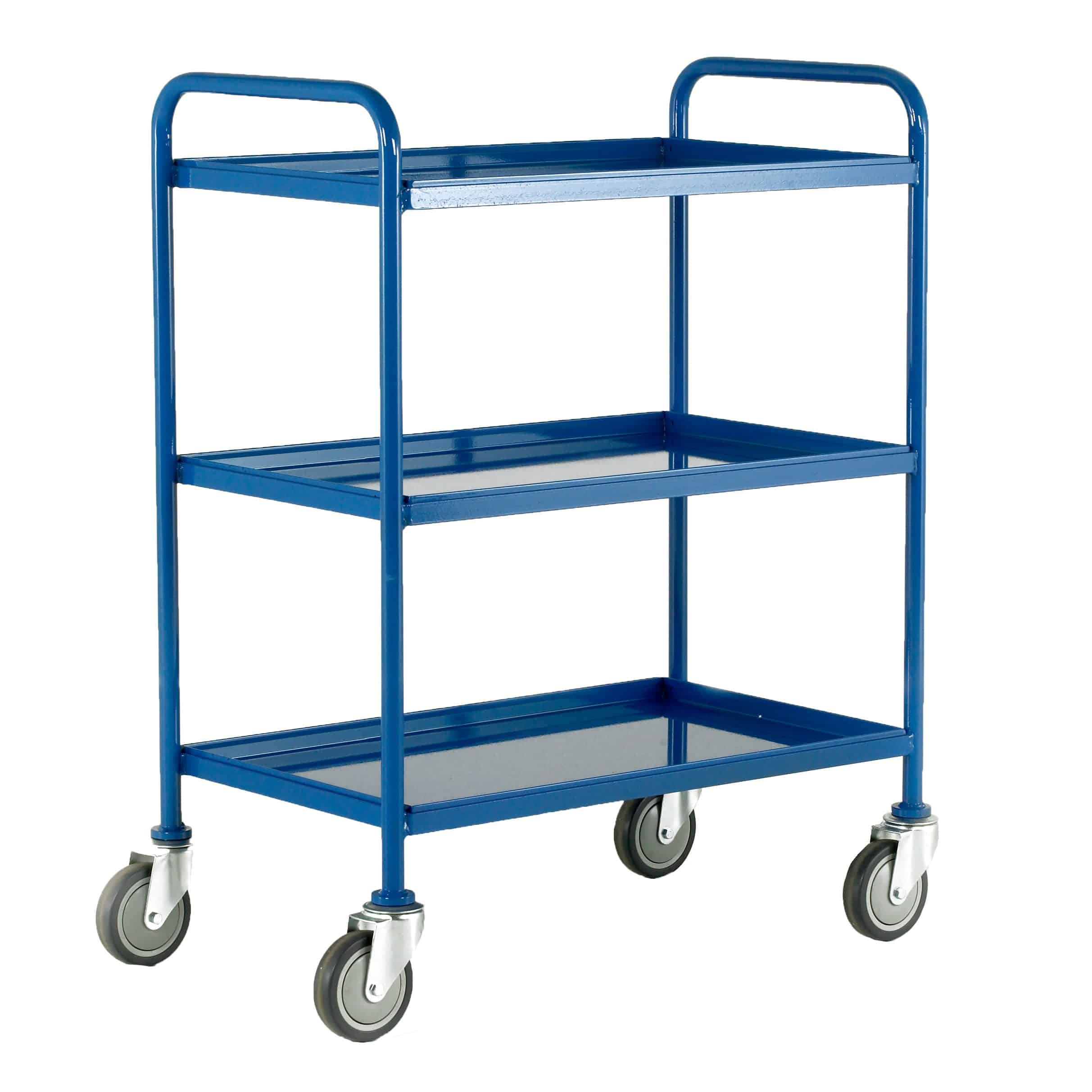 Removable 3 Tray Steel Tray Trolleys